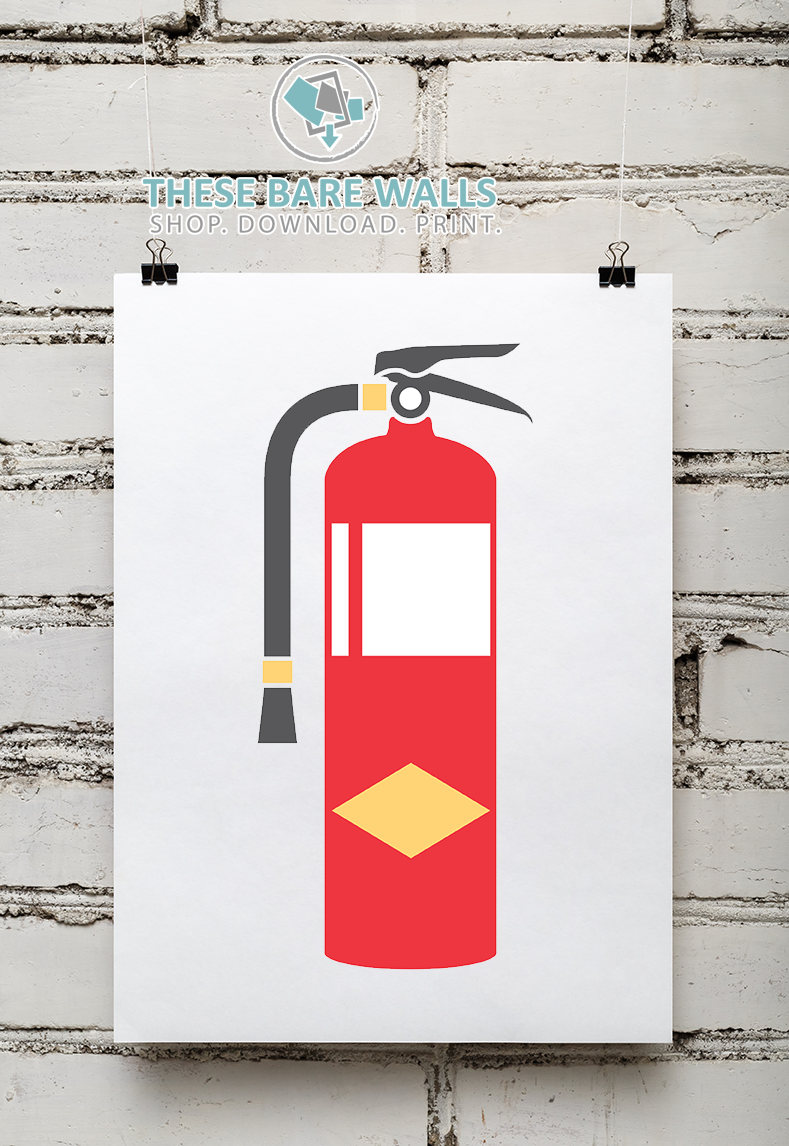 graphic regarding Printable Fire Extinguisher Sign called Fireplace Section Printable Wall Artwork
