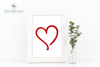 Red Heart Valentine Printable Wall Art - These Bare Walls - 1