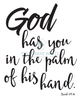 God Has You In The Palm Of His Hand Nursery Print - Engineering Print - Printable Art - These Bare Walls - 2