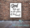 God Has You In The Palm Of His Hand Nursery Print - Engineering Print - Printable Art - These Bare Walls - 1