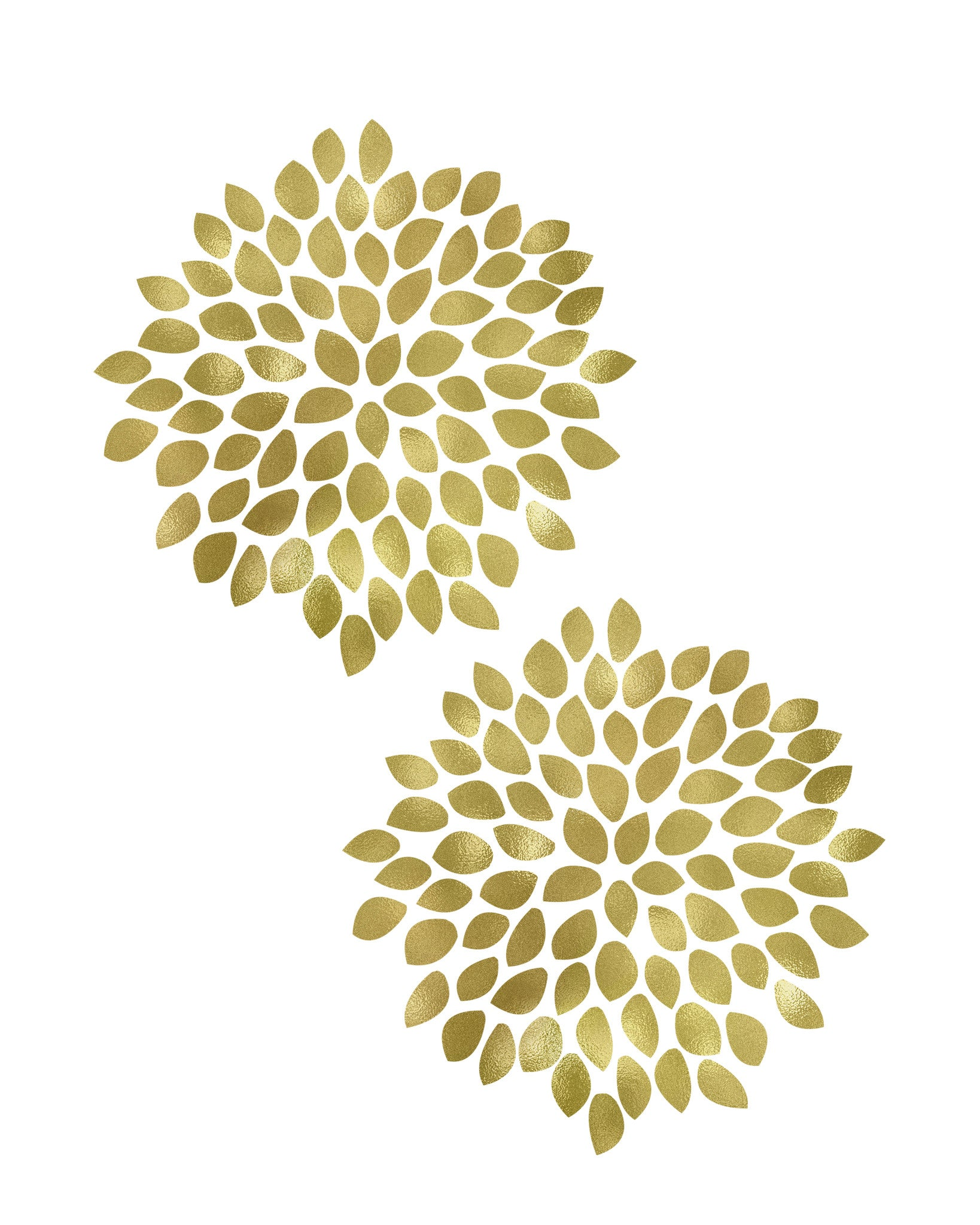 2 Gold Flowers Printable Art - These Bare Walls