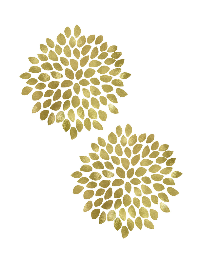 Large Gold Flower Printable Art | These Bare Walls