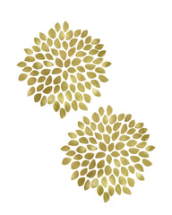 graphic about Free Printable Wall Art Flowers known as 2 Gold Bouquets Printable Artwork