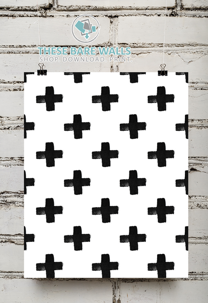 Black and White Pattern Printable Wall Art - These Bare Walls - 1