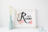 He Is Risen with Flowers Printable Wall Art - These Bare Walls - 1