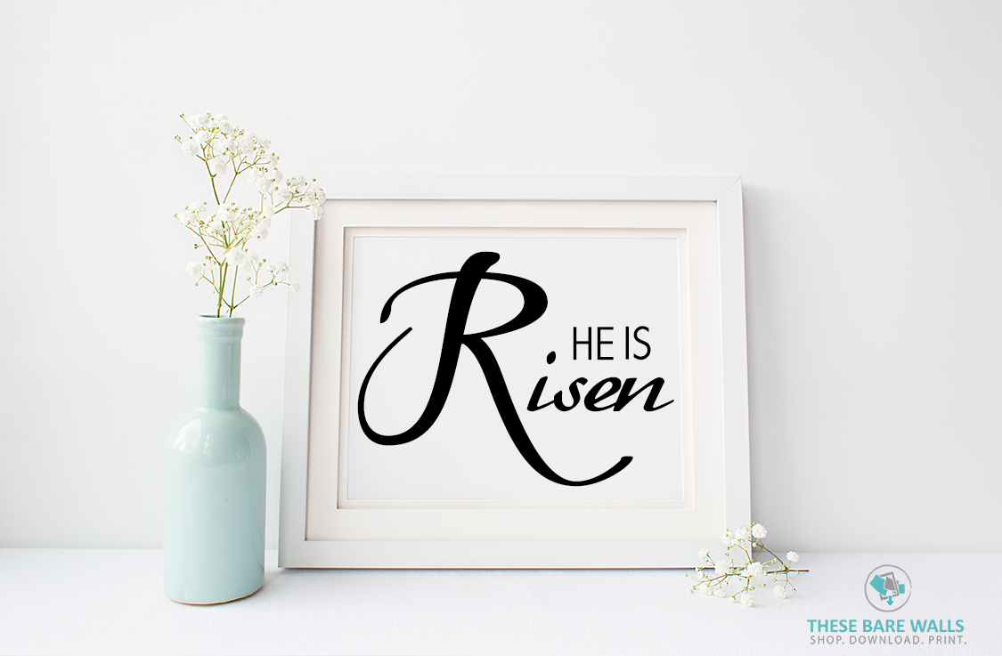 graphic regarding He is Risen Printable referred to as He Is Risen Printable Wall Artwork