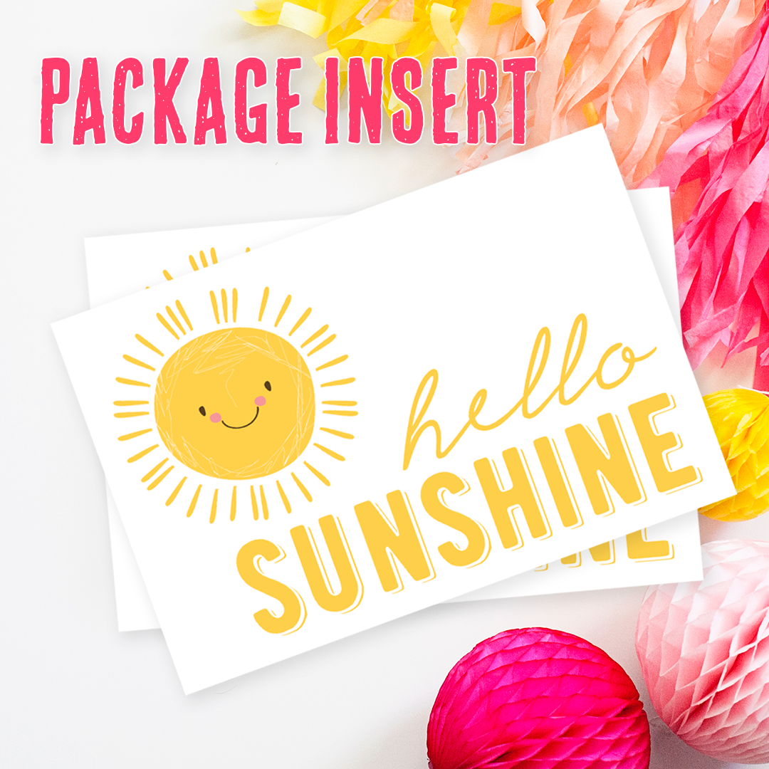 Hello Sunshine Package Insert - These Bare Walls