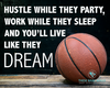 Hustle While They Party Basketball Printable Wall Art - Horizontal - These Bare Walls - 2