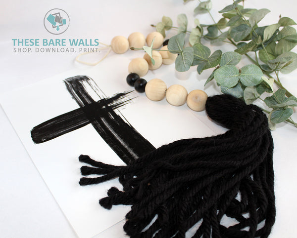 The Forrester Wood Beaded Garland with Tassel - These Bare Walls - 1
