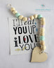 The Juliett My Heart Wood Beaded Garland - These Bare Walls - 1