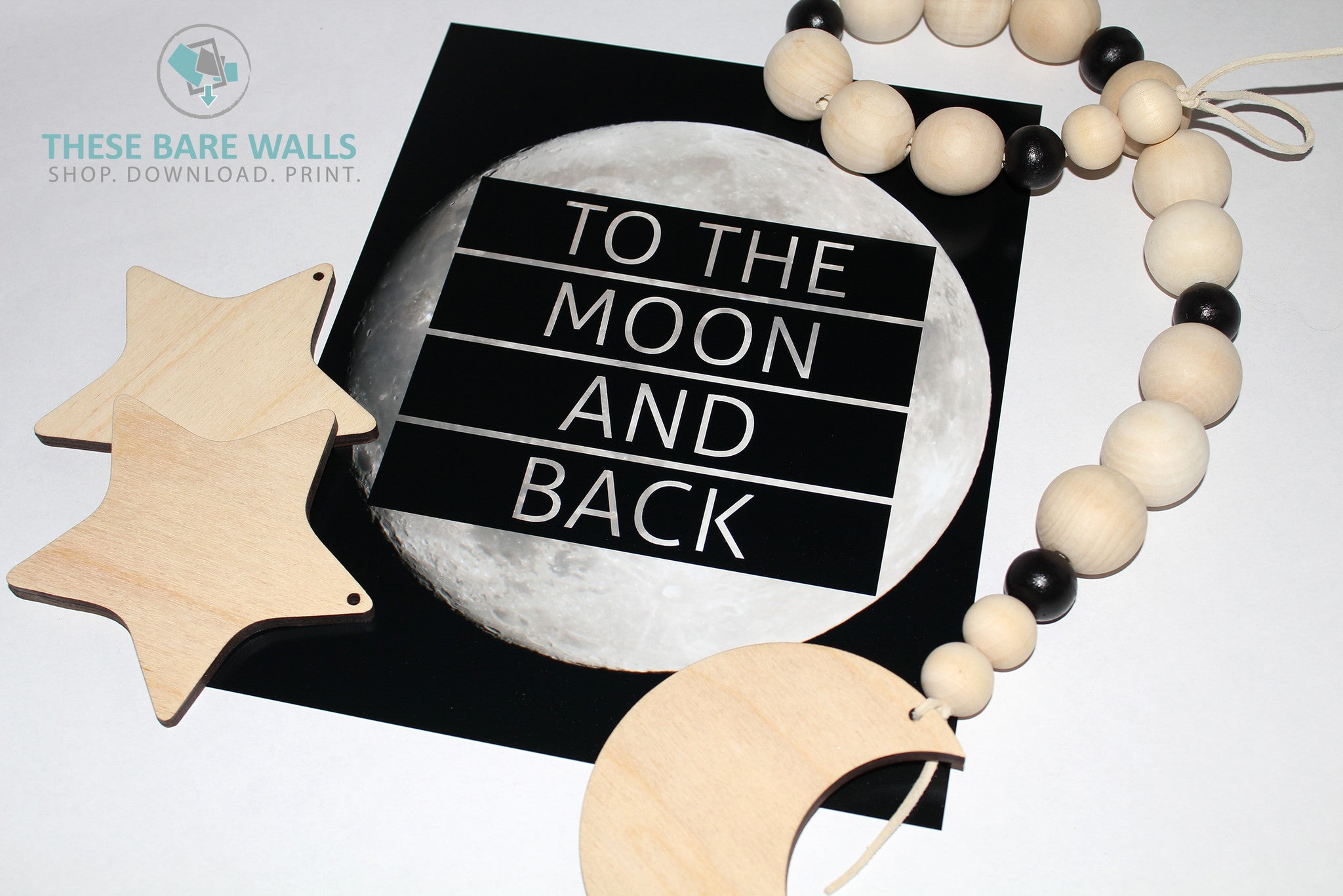 Wood Beaded Garland The Stella Over The Moon Wood Beaded Garland W These Bare Walls