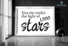 Kiss Me Under the Light of 1000 Stars Engineering Print - Printable Art - These Bare Walls