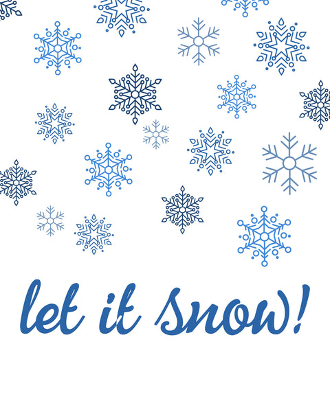 Let It Snow Printable Art - These Bare Walls