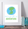 Let's Go On An Adventure Printable Wall Art - These Bare Walls