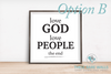 Love God Love People The End Quote print