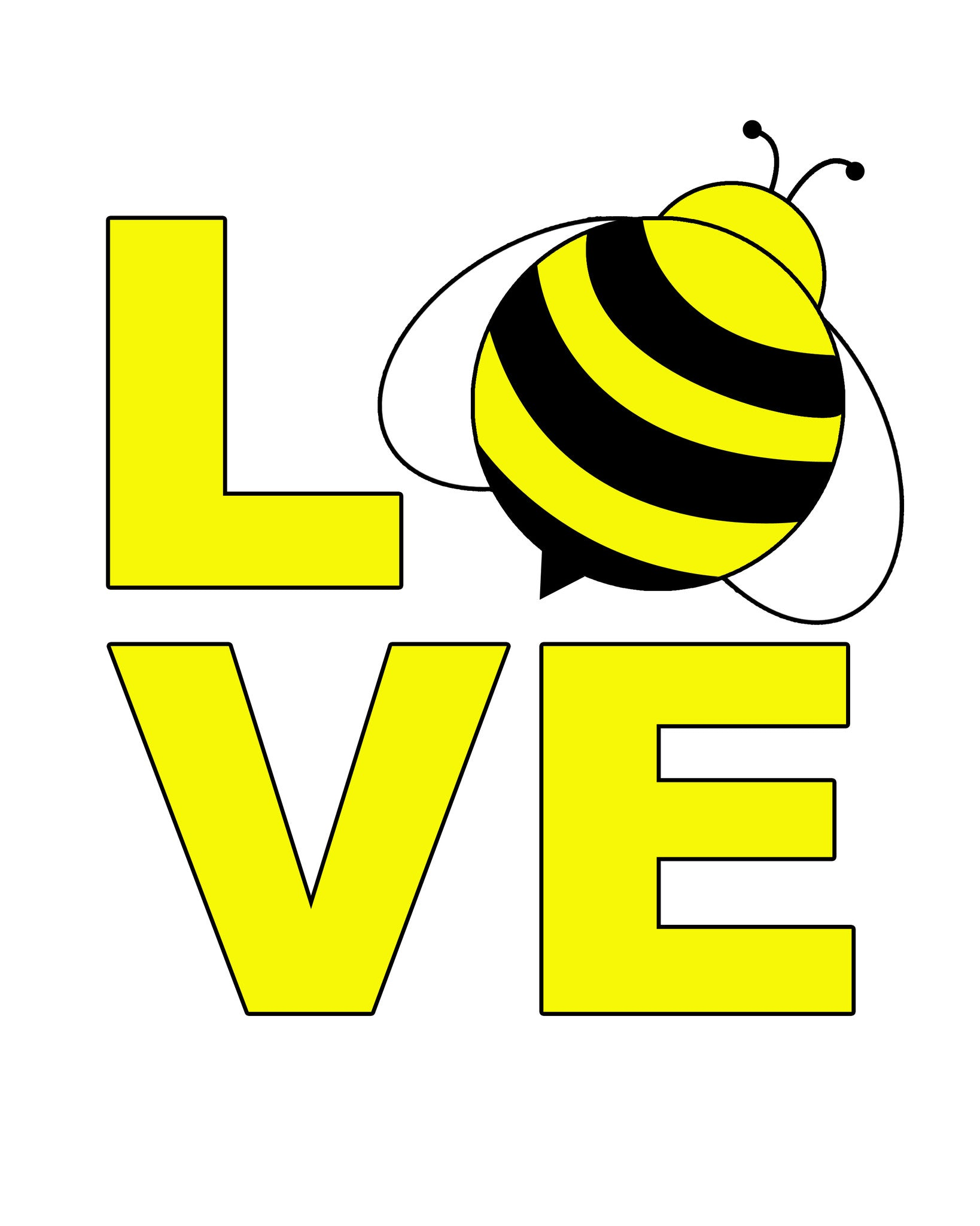 LOVE Bee Printable Art - These Bare Walls