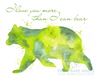 Watercolor Bear - I Love You More Than I Can Bear Printable Wall Art - These Bare Walls - 2