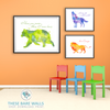 Watercolor Animals - Set of 5 - These Bare Walls - 2