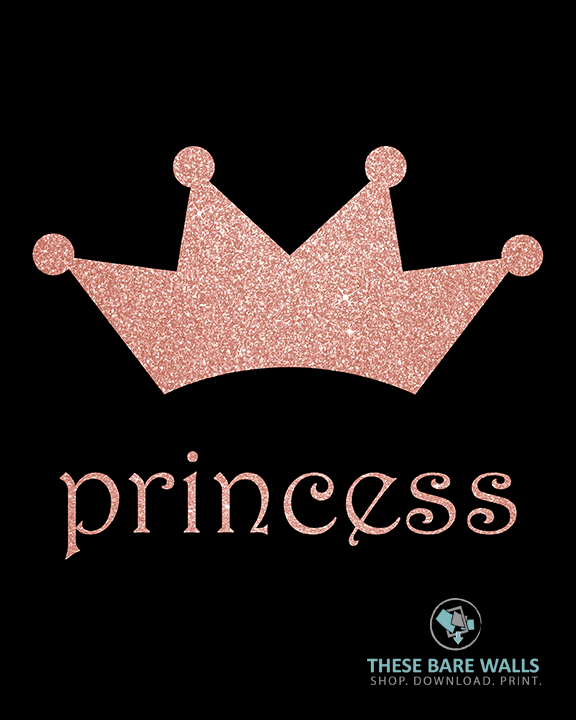 photograph regarding Princess Crown Printable named Princess Crown Printable Wall Artwork