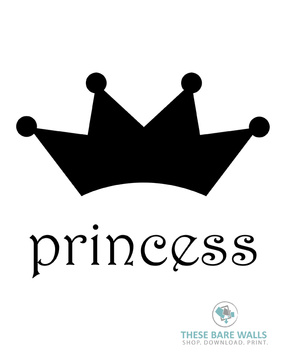 This is a picture of Princess Crowns Printable in shape