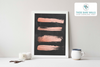 Rose Gold Strokes on Chalkboard Printable Wall Art - These Bare Walls - 4