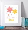 Shine Like a Star Printable Wall Art - These Bare Walls