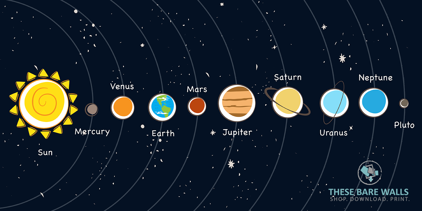 Adorable image pertaining to printable solar system