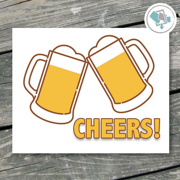 Cheers Beer Print - These Bare Walls - 1