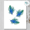3 Blue Green Feathers Printable Art - These Bare Walls