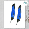 2 Blue and Black Feathers Printable Art - These Bare Walls