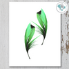 2 Green Feathers Printable Art - These Bare Walls