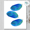 3 Blue Feathers Printable Art - These Bare Walls
