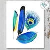 4 Colorful Feathers Printable Art - These Bare Walls