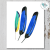 3 Tall Feathers Printable Art - These Bare Walls