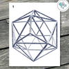 Geometric Polygon Printable Wall Art - These Bare Walls - 2