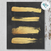 Gold Strokes on Chalkboard Printable Wall Art - These Bare Walls - 1