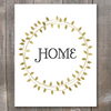 Gold Wreath Home Printable Art - These Bare Walls - 1