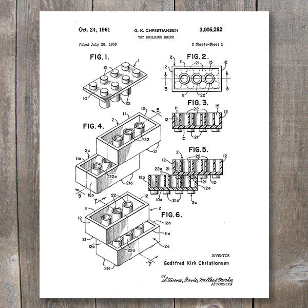 Lego Patent Printable Wall Art | These Bare Walls