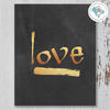Love Gold Printable Wall Art - These Bare Walls - 1