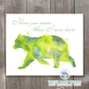 Watercolor Bear - I Love You More Than I Can Bear Printable Wall Art - These Bare Walls - 1