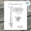 Guitar Patent Print - Guitar Wall Decor