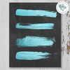 Teal Blue Strokes on Chalkboard Printable Wall Art - These Bare Walls - 1