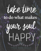 Take Time To Do What Makes Your Soul Happy - These Bare Walls - 2