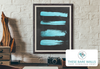 Teal Blue Strokes on Chalkboard Printable Wall Art - These Bare Walls - 3