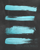 Teal Blue Strokes on Chalkboard Printable Wall Art - These Bare Walls - 2