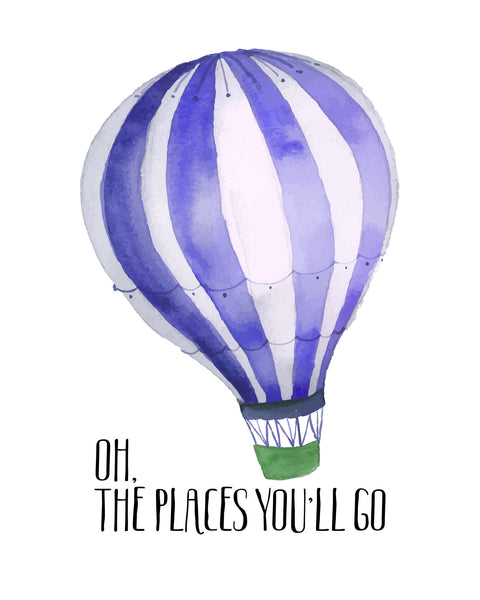 Oh The Places You'll Go Printable Art - These Bare Walls - 1