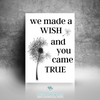 We Made A Wish And You Came True Printable Wall Art - These Bare Walls - 2