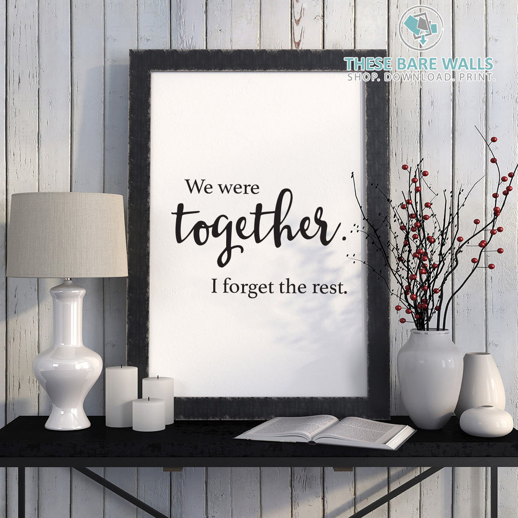 quotes printable wall art | these bare walls