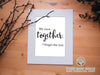 We were together. I forget the rest - Walt Whitman Print - These Bare Walls - 2