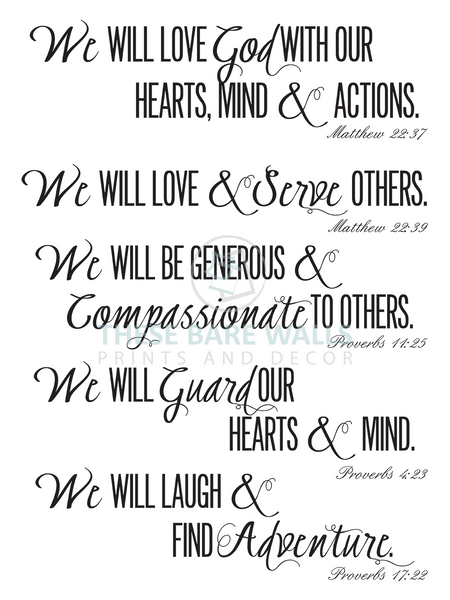 We Will Love Prayers Engineering Print